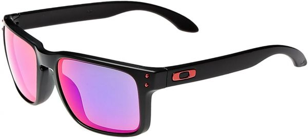 Oakley Sunglasses Unisex OO9102-36 Matte Black Frame/Positive Red Iridium Lenses - Watchbatteries