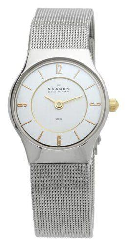 Skagen Womens 233XSGSC Watch Silver Mesh Band - Watchbatteries