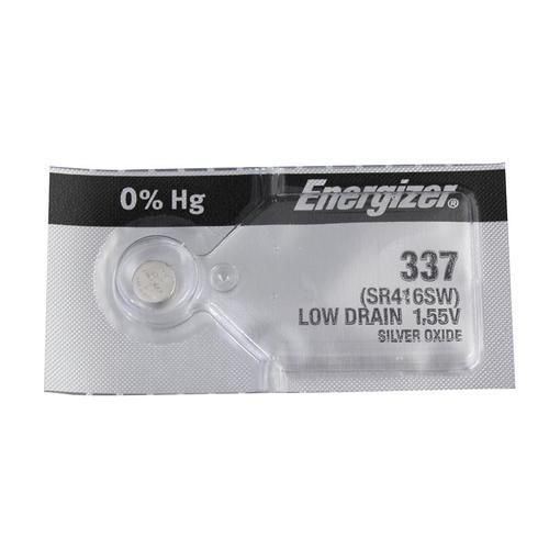 Energizer 337TZ Silver Oxide Coin Cell Batteries 1.55V - Watchbatteries
