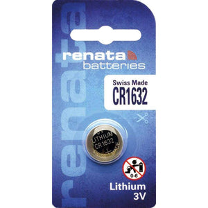 Renata CR1632-CU 125mAh 3V Lithium Primary (LiMNO2) Coin Cell Battery - Watchbatteries