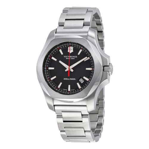 Victorinox 241723.1 Swiss Army I.N.O.X. Stainless Steel Watch, 43mm, Black - Watchbatteries