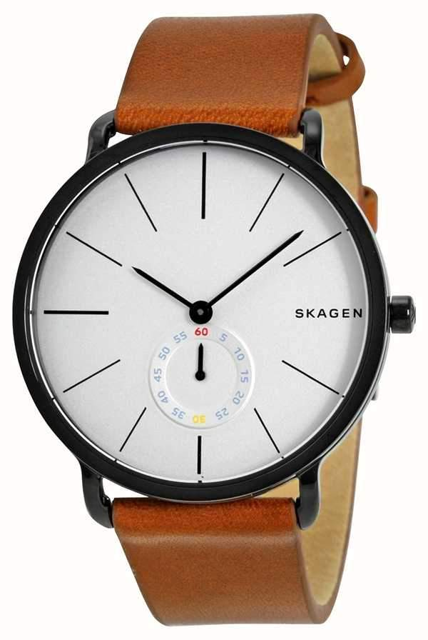 Skagen Mens SKW6216 Hagen Brown Leather Watch - Watchbatteries