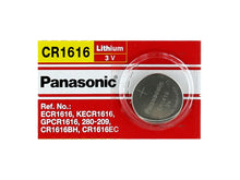 Panasonic CR1616 55mAh 3V Lithium (LiMnO2) Coin Cell Battery - Watchbatteries