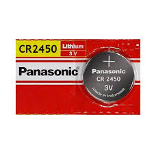 Panasonic CR2450 620mAh 3V Lithium (LiMnO2) Coin Cell Battery