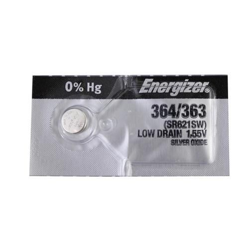 Energizer 364/363 Silver Oxide Coin Cell Batteries 1.55V SR621SW - Watchbatteries