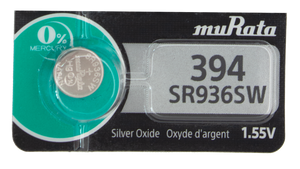 Murata (Replaces Sony) 394 (SR936SW) 1.55V Silver Oxide 0%Hg Mercury Free Watch Battery