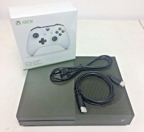 Microsoft Xbox One S 1TB Military Green Console Battlefield 1 Special Edition (PRE-OWNED) - Watchbatteries