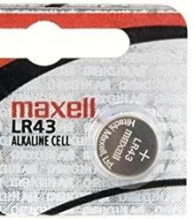 Maxell LR43 186 1.5V Alkaline Button Battery - Watchbatteries