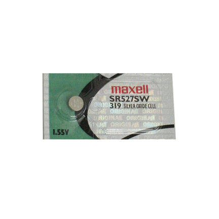 Maxell 319 SR527SW 1.55v Silver Oxide Button Cell Battery - Watchbatteries