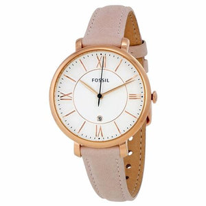 Fossil Womens ES3988 Gold Case with Pink Leather Band Watch - Watchbatteries