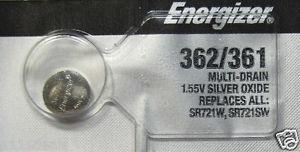 Energizer 362-361TZ Silver Oxide Coin Cell Batteries 1.55V - Watchbatteries