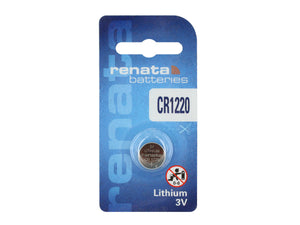 Renata CR1220-CU 38mAh 3V Lithium Primary (LiMNO2) Coin Cell Battery - Watchbatteries
