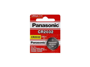 Panasonic CR2032 220mAh 3V Lithium (LiMnO2) Battery - Watchbatteries