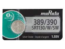 Murata (Replaces Sony) 389/390 SR1130 82mAh 1.55V Silver Oxide Watch Battery