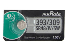 Murata (Replaces Sony) 393/309 SR48W 42mAh 1.55V Silver Oxide Watch Battery