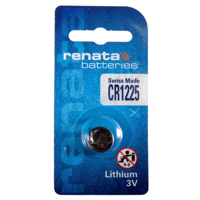 Renata CR1225 48mAh 3V Lithium Primary (LiMNO2) Coin Cell Battery