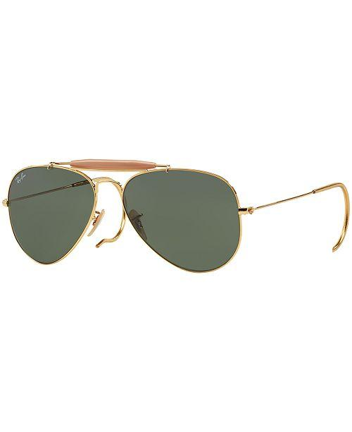 Ray Ban Unisex Large Aviator Gold Frame Outdoorsman II 3029-L2112(62) - Watchbatteries