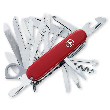 Victorinox Swiss Army 53501 SwissChamp Pocket Knife, 34-In-1 Function, Stainless Steel, VX Red - Watchbatteries