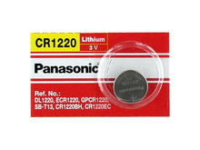 Panasonic CR1220 35mAh 3V Lithium (LiMnO2) Coin Cell Battery - Watchbatteries