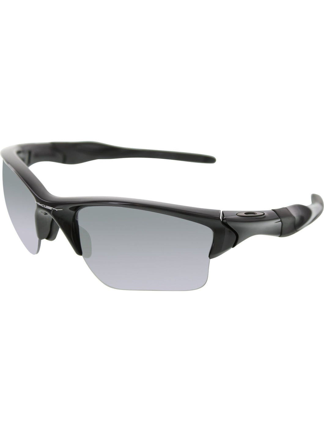Oakley Mens OO9154-05 Polarized Half Jacket 2.0 XL Polished Black Sunglasses - Watchbatteries