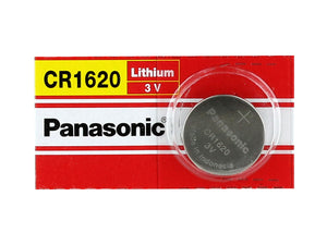 Panasonic CR1620 75mAh 3V Lithium (LiMnO2) Coin Cell Battery - Watchbatteries