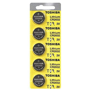 Toshiba CR2032 3 Volt Lithium Battery ( 5 Pack) - Watchbatteries