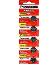 Panasonic CR1632 140mAh 3V Lithium (LiMnO2) Coin Cell Battery - Watchbatteries