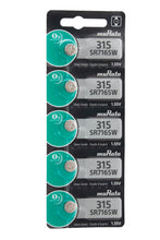 Murata (Replaces Sony) 315 (SR716SW) 1.55V Silver Oxide 0%Hg Mercury Free Watch Battery