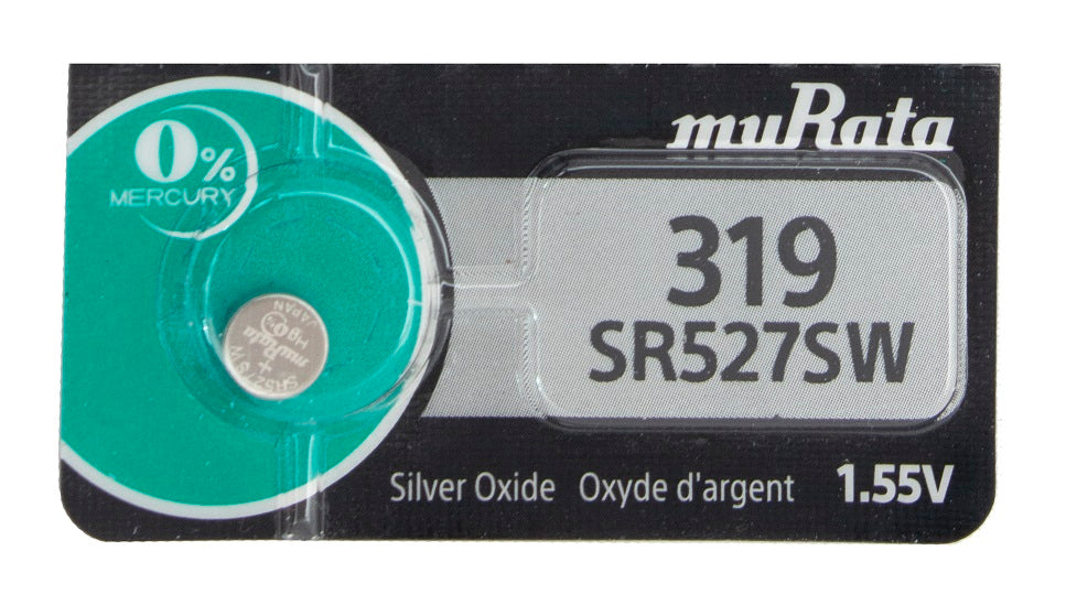 MuRata 319 SR527SW 22.5mAh 1.55V Silver Oxide Watch Battery