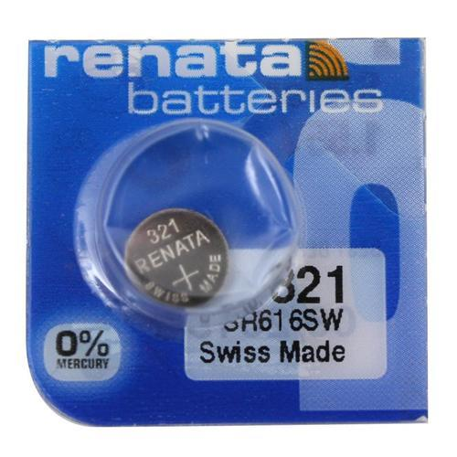 Renata 321 14.5mAh 1.55V Silver Oxide Coin Cell Battery - Watchbatteries