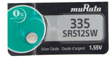 Murata (Replaces Sony) 335 SR512SW 6mAh 1.55V Silver Oxide Watch Battery