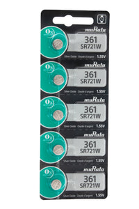 MuRata 361 SR721W 24mAh 1.55V Silver Oxide Watch Battery