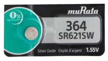 MuRata 364 SR621SW 23mAh 1.55V Silver Oxide Watch Battery