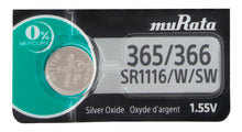 MuRata 365/366 SR1116SW 33mAh 1.55V Silver Oxide Watch Battery