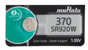 MuRata 370 SR920W 44mAh 1.55V Silver Oxide Watch Battery