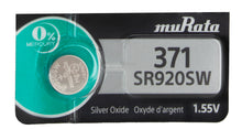 MuRata  371 SR920SW 44mAh 1.55V Silver Oxide Watch Battery