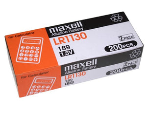 Maxell LR1130 1.5V Alkaline Coin Cell Battery - Watchbatteries