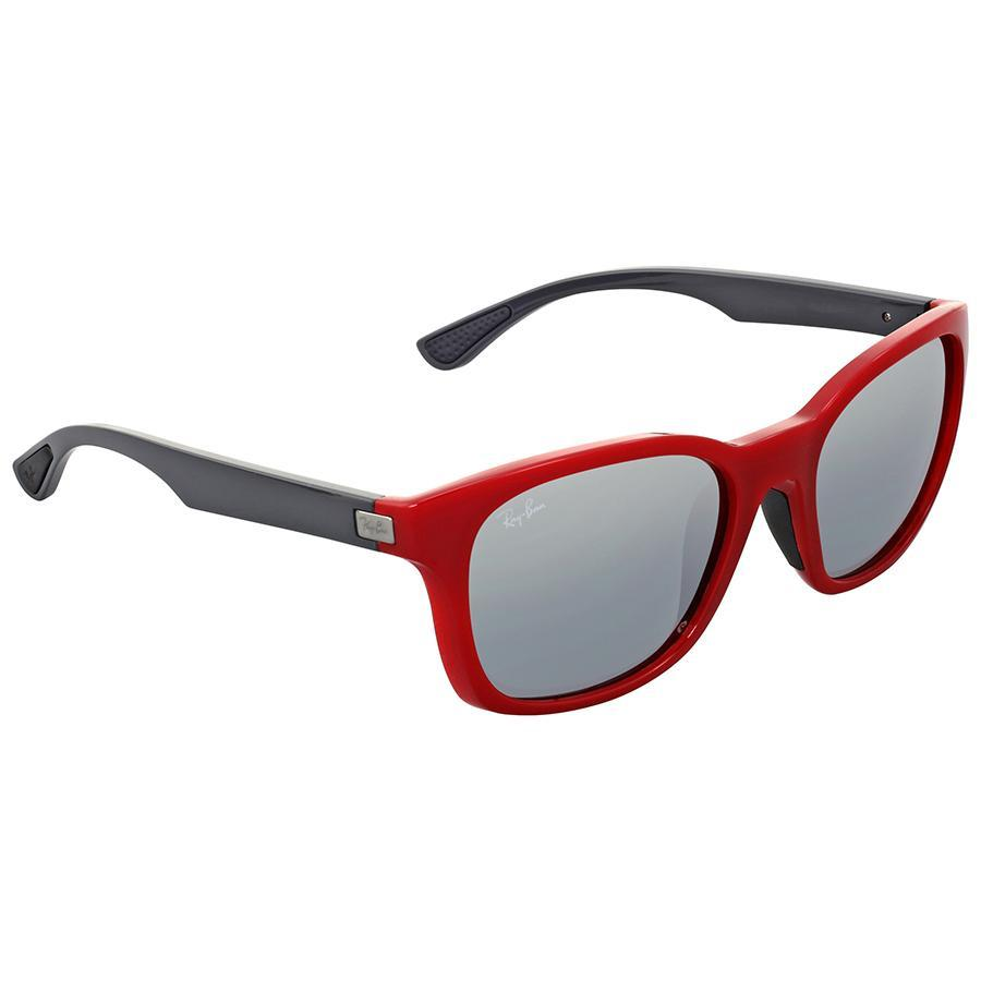 Ray Ban 4197-604488 56 Sunglasses - Red / Silver Gradient - Watchbatteries