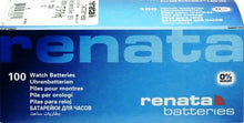Renata 317  SR516SW 0% MERCURY Watch Batteries Box of 100 Exp. Date 09/2022