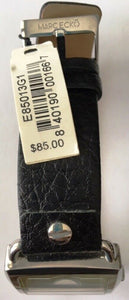 Marc Ecko E85013G1 Men's Dress Watch Watch Black Leather Strap..Salesman Sample
