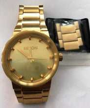 Nixon A160-502The Cannon 100m Gold Plated Japan Movement  w/Xtra Links Bad Box
