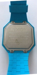 Nixon Re-Run Sky Blue Rubber Unisex Digital Watch #A169-917 DEFECTIVE