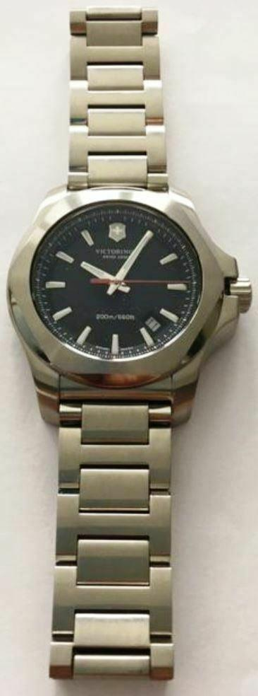 MENS SWISS ARMY 241723 VICTORINOX I.N.O.X. 200M QUARTZ WATCH Store Display