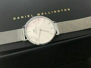 Daniel Wellington Petite Sterling Watch Silver Bracelet 32mm DW00100164 USA Ship