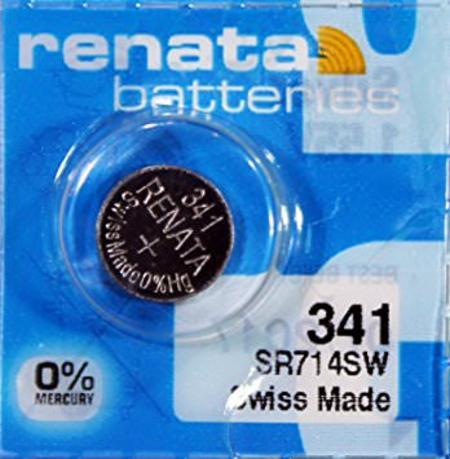 Renata 341 15mAh 1.55V Silver Oxide Coin Cell Battery - Watchbatteries