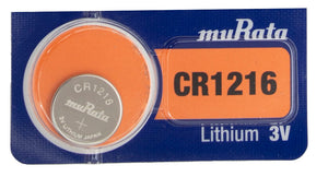 MuRata CR1216 30mAh 3V Lithium (LiMnO2) Coin Cell Watch Battery