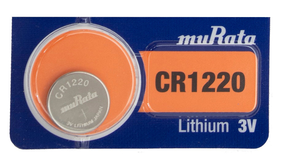 Murata (Replaces Sony) CR1220 40mAh 3V Lithium (LiMnO2) Coin Cell Watch Battery