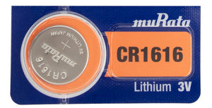Murata (Replaces Sony) CR1616 60mAh 3V Lithium (LiMnO2) Coin Cell Watch Battery