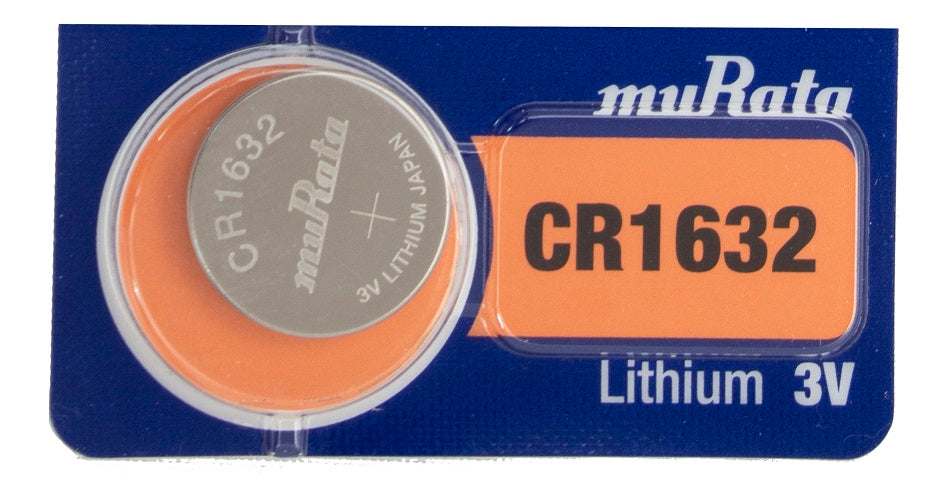 MuCR1632 140mAh 3V Lithium (LiMnO2) Coin Cell Watch Battery