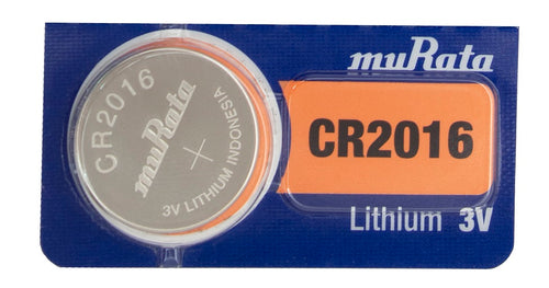 Murata (Replaces Sony) CR2016 90mAh 3V Lithium (LiMNO2) Coin Cell Battery